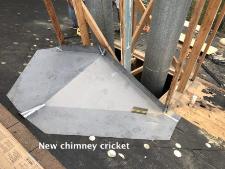 Proper chimney flashings