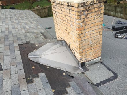 Roof flashings, chimney flashings