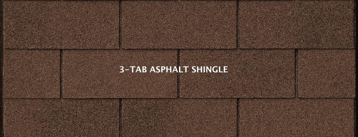 3-tab shingle