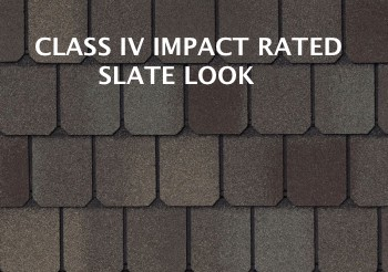 slate look modified asphalt class 4 impact shingle