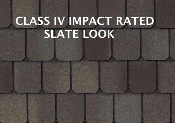 slate look modified asphalt class 4 impact shingle